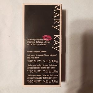 Marykay ultrastay lipstick plum color.